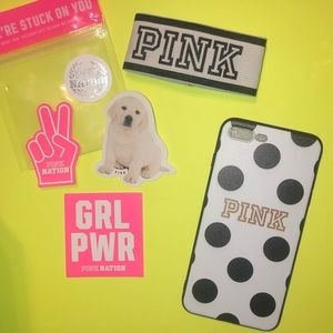PINK iPhone 8 PLUS Case w/free stickers